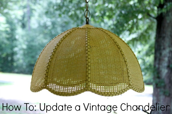 How To: Update a Vintage Chandelier