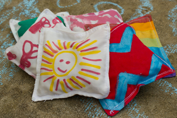 kid decorated scrap fabric bean bags (3 of 3)