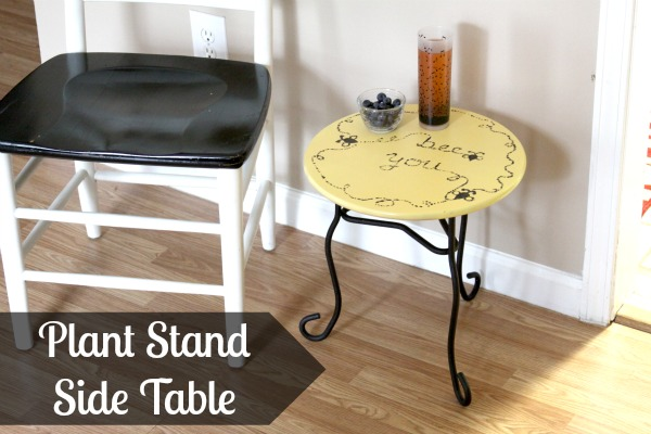 How To: Create a Plant Stand Side Table