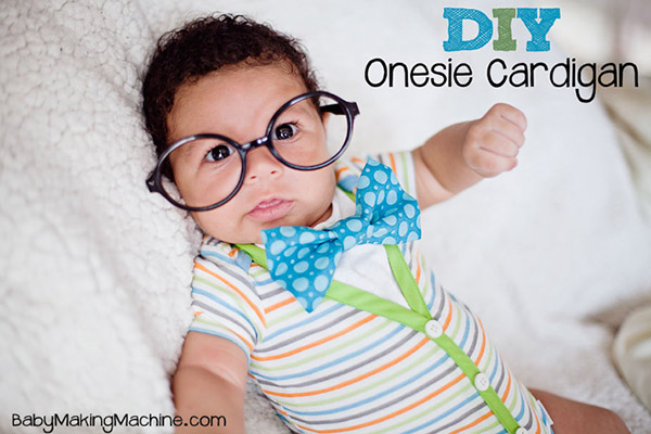 DIY Cardigan Onesie Tutorials