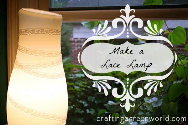 DIY Lighting Lace Lamp