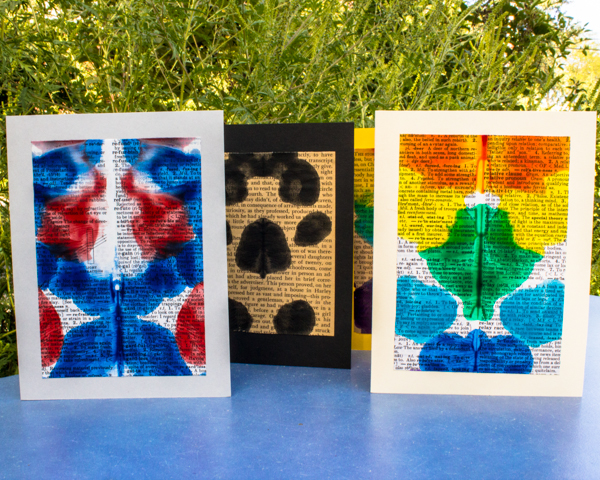 Book page prints into greeting cards from spooky and bright m4hsunfo