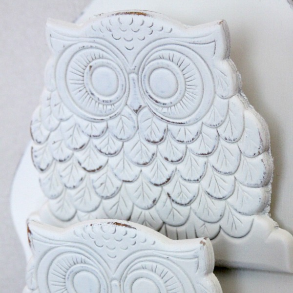 Thrift Store Makeover Before & After: An Owl Mail Holder