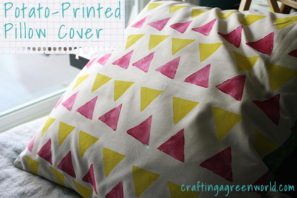 how to make a printed pillow cover