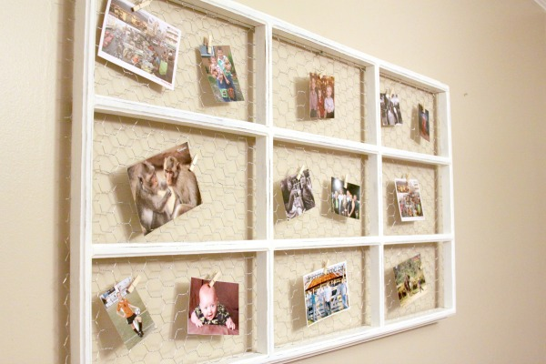 How To: Upcycle an Old Window Frame into a Memo Board