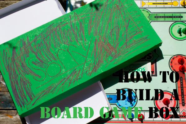DIY board game storage box