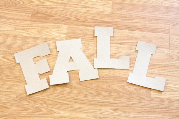 Fall Crafts: Recycled Cardboard Letters