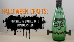 Halloween Crafts from Recycled Materials: DIY Halloween Decorations: Frankenstein Bottle