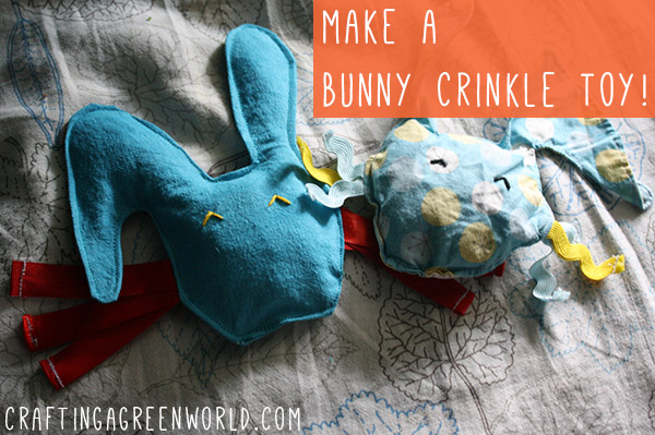 how to make a toy: bunny crinkle toy
