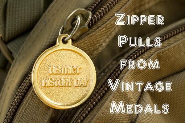 Vintage Medal Zipper Pulls (1 of 1)