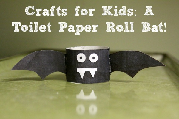 Crafts For Kids A Toilet Paper Roll Bat