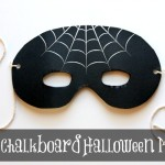 DIY Halloween Decorations: Chalkboard Mask