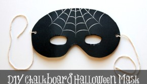 DIY Halloween Decorations: Chalkboard Mask