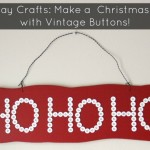 holiday craft with vintage buttons