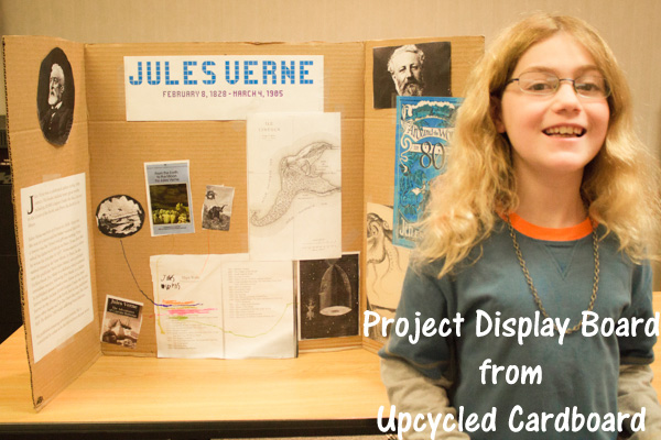 upcycled cardboard project display board (1 of 1)