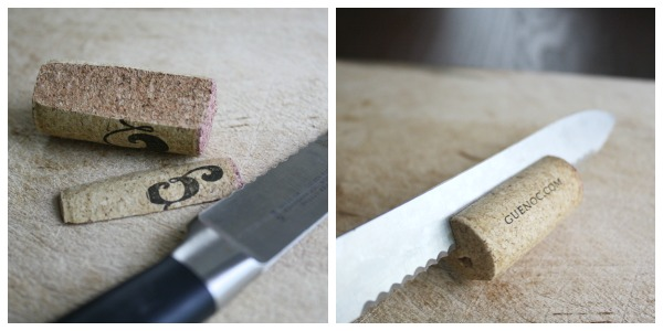 Thanksgiving Crafts Cork Slicing