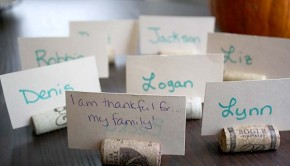 Thanksgiving crafts from recycled materials