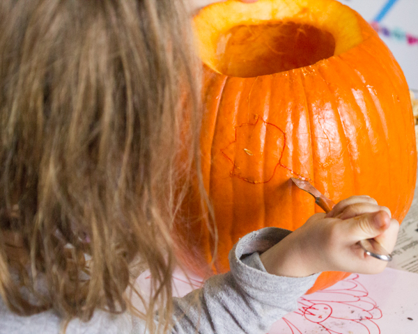 Make a Leaf Carved Pumpkin