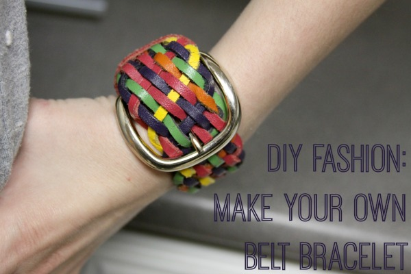 DIY Fashion: Make Your Own Belt Bracelet