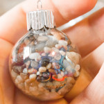 Fill Clear Glass Ornaments: Nature Crafts for Christmas