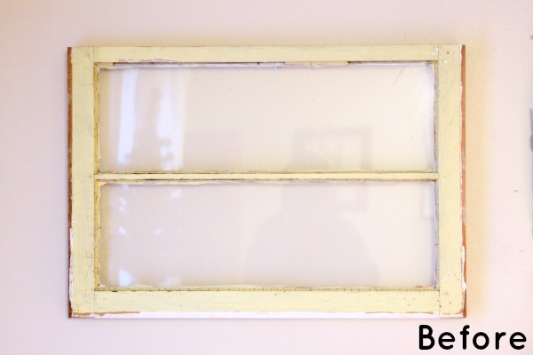 Reduce, Reuse, Redecorate: Upcycle an Old Window into a Dry Erase Board