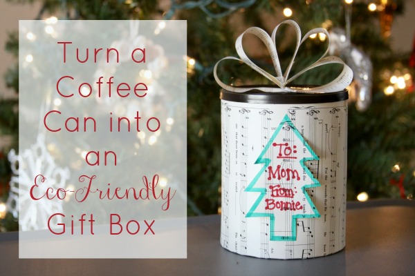 Christmas Crafts: Turn a Coffee Can into an Eco-Friendly Gift Box
