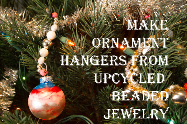 DIY Christmas Ornaments: Recycled Beaded Hangers
