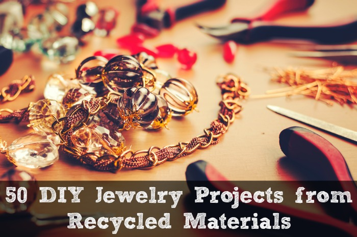 50 diy jewelry projects from recycled materials crafting for Diy crafts using recycled materials