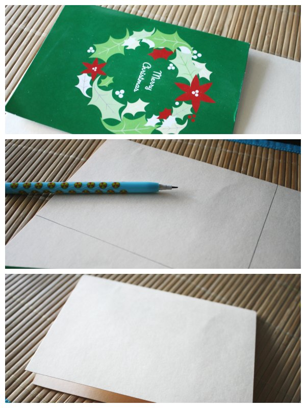 Making the Valentines Day Card Blank