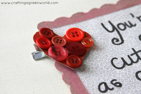 "Valentine's Day Ideas: Handmade ""Cute as a Button"" Valentines"