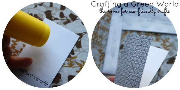 How to Make Gift Tags: Gluing