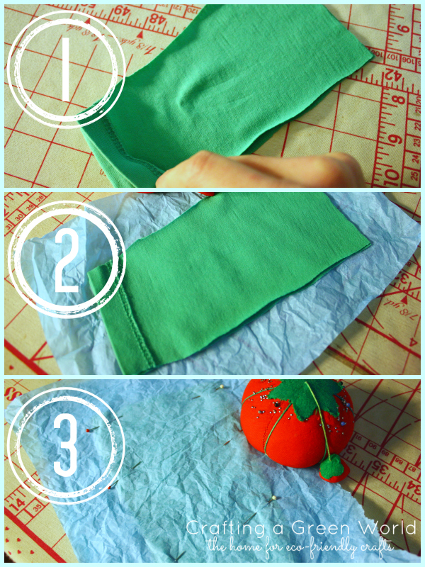 How to Sew Knit Fabric with Tissue Paper