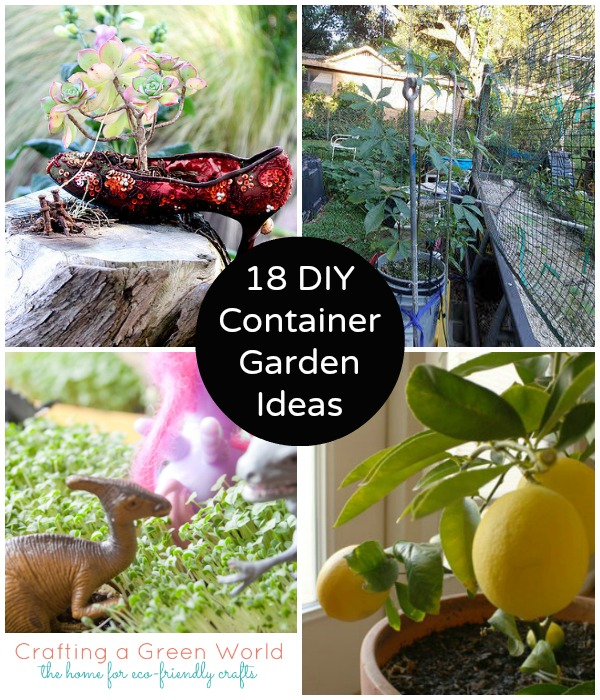 18 DIY Container Garden Ideas