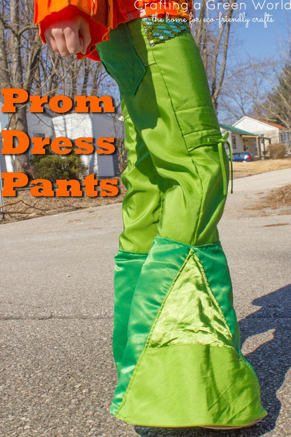 Clothing Refashion: Prom Dress Pants