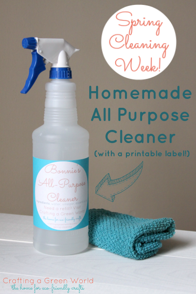 Homemade All Purpose Cleaner (with a printable label!)