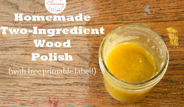 DIY Home   Garden. Homemade Wood Polish with Only Two Ingredients
