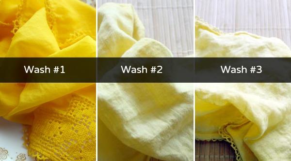 Washing Fabric with Turmeric Dye