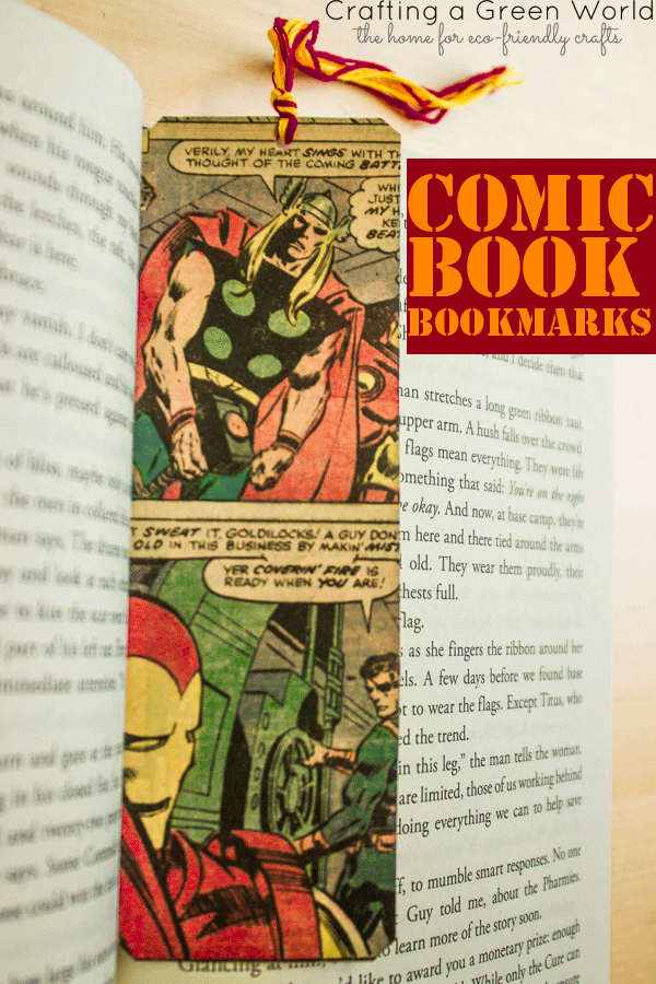 Make Comic Book Bookmarks