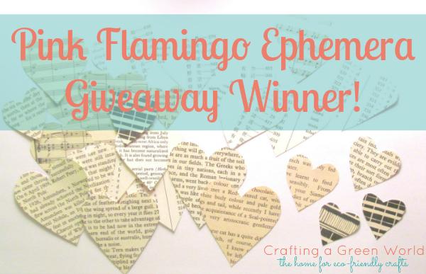 Pink Flamingo Ephemera Giveaway Winner!