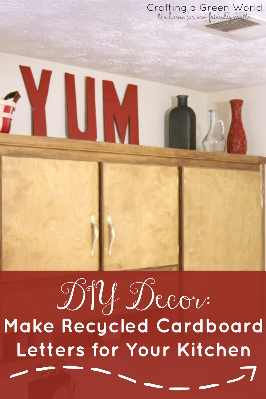 DIY Decor: Make Recycled Cardboard Letters for Your Kitchen ...