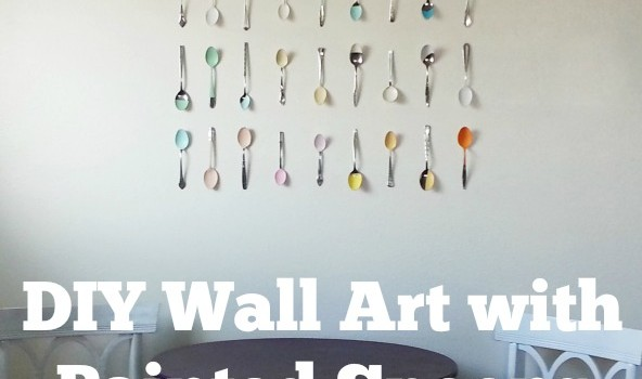 Spotted DIY Wall Art With Painted Spoons Crafting A Green World