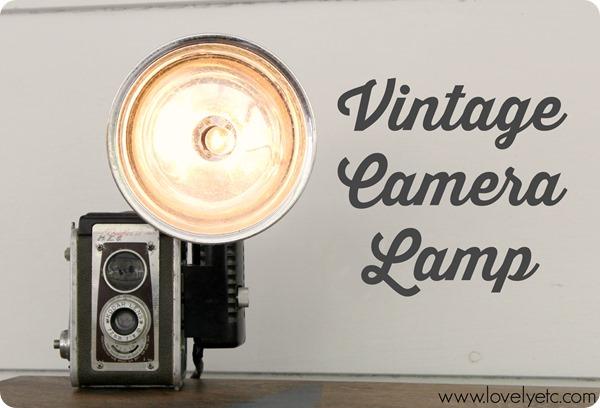 Spotted: Make a Vintage Camera Lamp