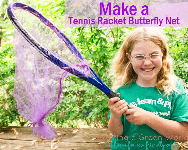 Make a Tennis Racket Butterfly Net