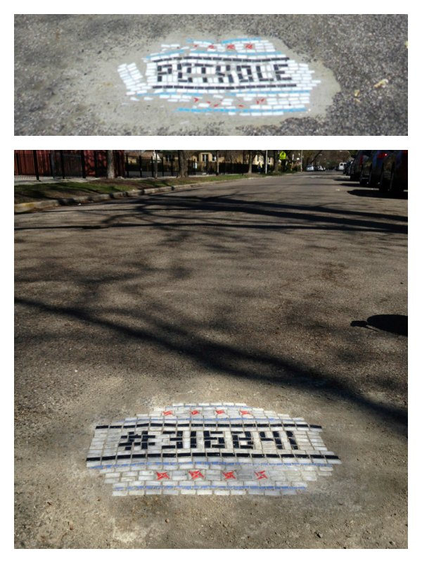 Chicago Potholes Are a Work of Art