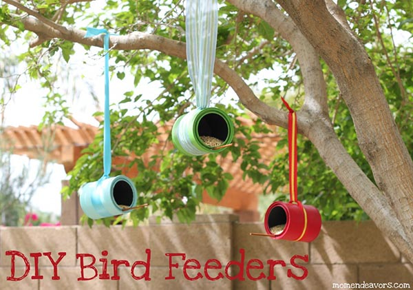 Spotted: How to Make a Bird Feeder from an Empty Paint Can