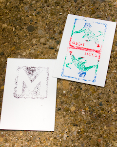 Woodblock Printing with Alphabet Blocks