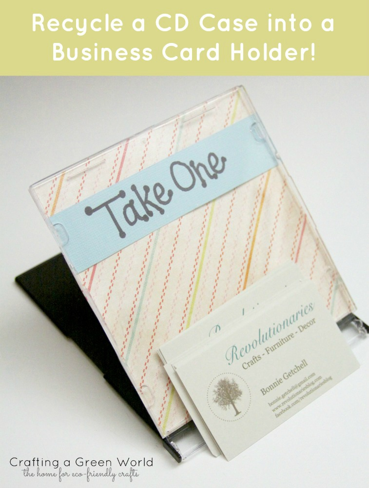 DIY Crafts: Recycle a CD Case into a Business Card Holder