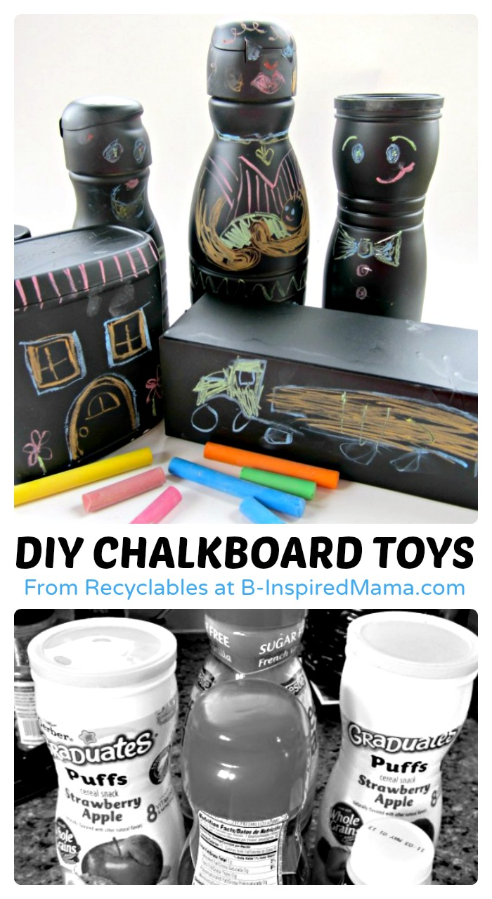 Spotted: Recycled Chalkboard DIY Toys