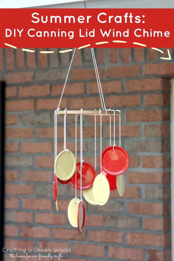 Summer Crafts: DIY Canning Lid Wind Chime