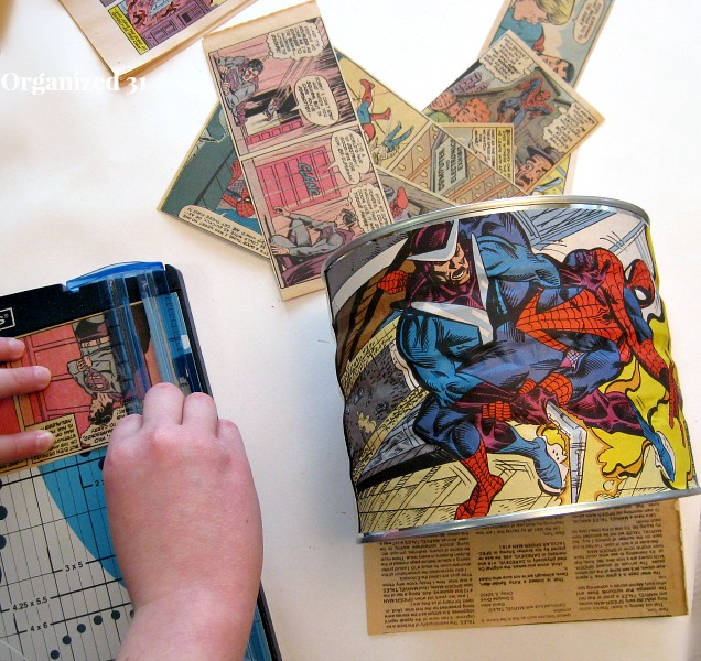 Make an Upcycled Comic Book Can